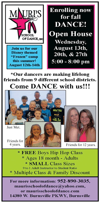 Fall Classes at Mauri's School of Dance!