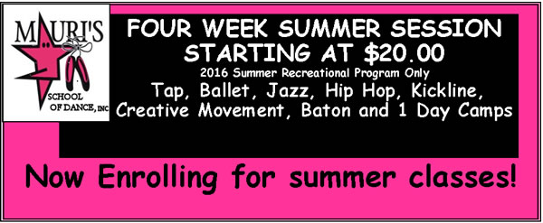 Four Week Summer Session 2016